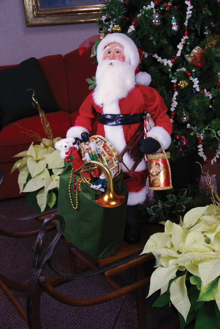 Christmas carolers figurines for sale - Byers Choice Carolers 30 Red Velvet Display Santa With Assorted Toys
