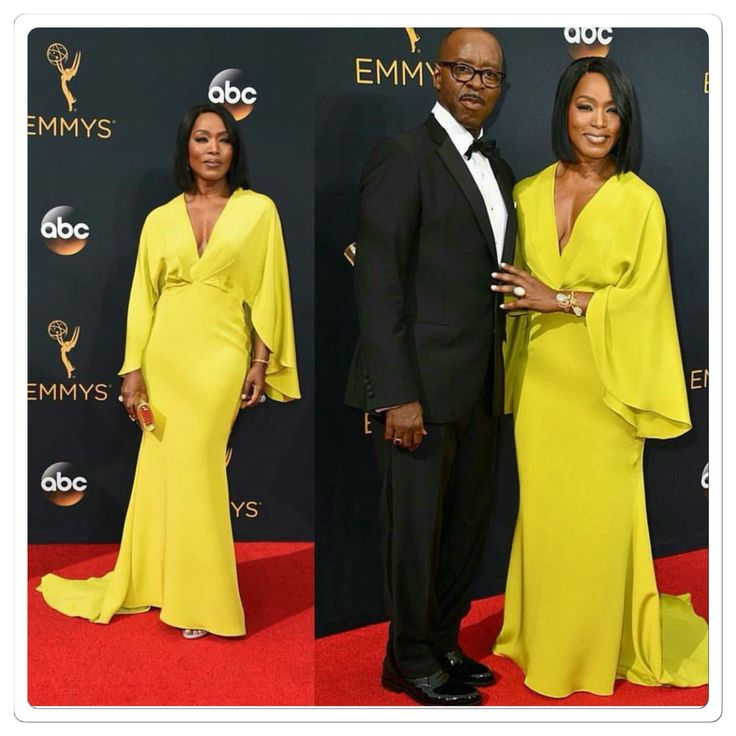 Angela Bassett & husband at 2016 Emmys