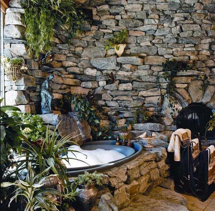 Salle de bain en pierre naturelle – 55 idées mode…