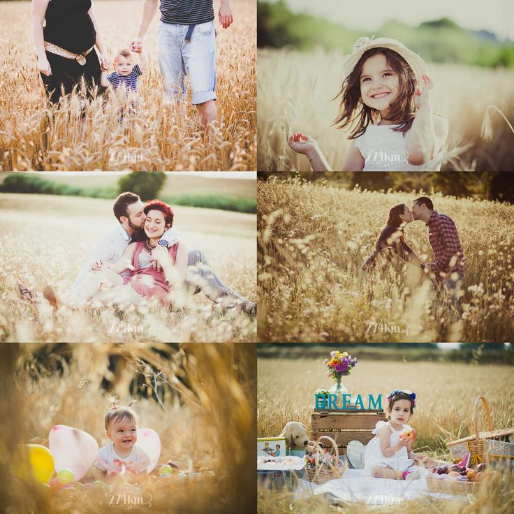 sesión de fotos en exterior en primavera campo trigo barcelona