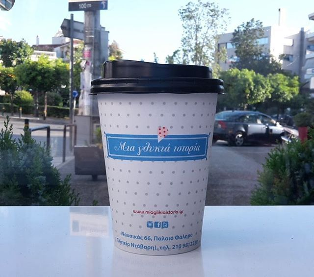 ¤ It's the little things in life ¤ #sweetstory #glikiaistoria #sweet #oldfaliron #palaiofaliro #icecreamshop #coffee #coffeelovers #polkadots