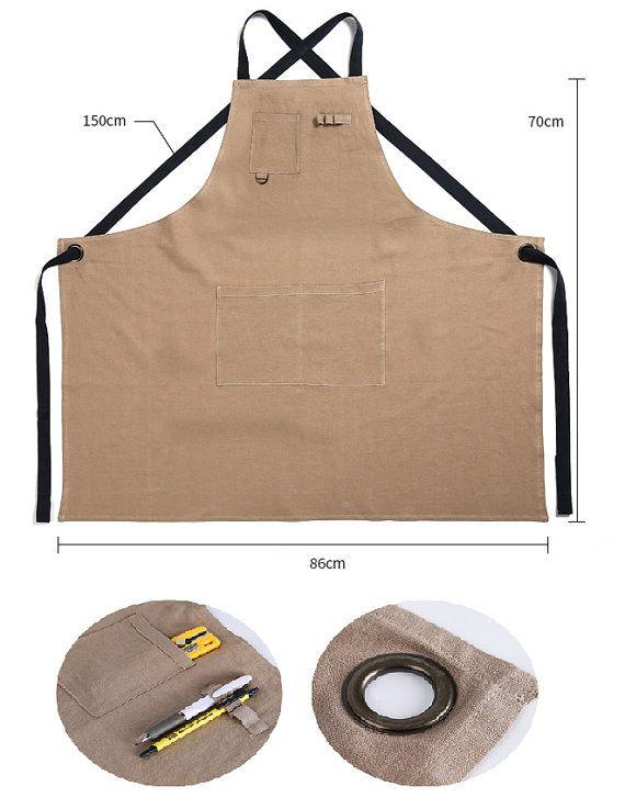 Ropa Premium regalo Chef trabajos hecho a mano delantal