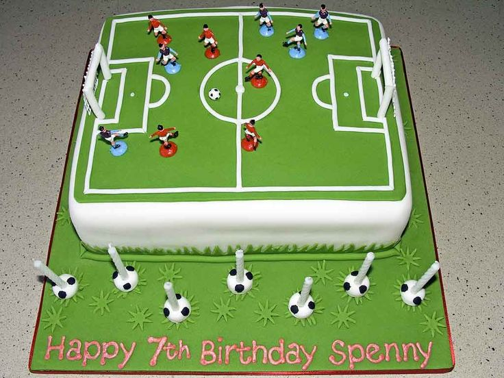 Cover Football Pitch Birthday Cake