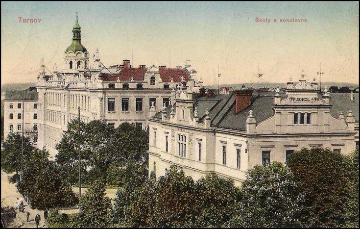 Turnov - Skálova ulice - Sokolovna 1912