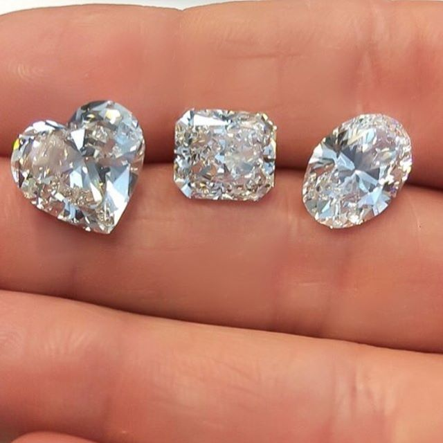 Today's find!!! Selecting fancy shape diamonds for custom design rings is always satisfying when they are as beautiful as this!!