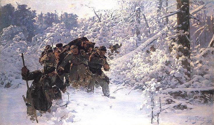 Возвращение с медведем. 1892 г.