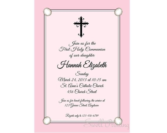 9 best Confirmation-Holy Communion-Baptism Invitations images on - best of invitation card message for baptism