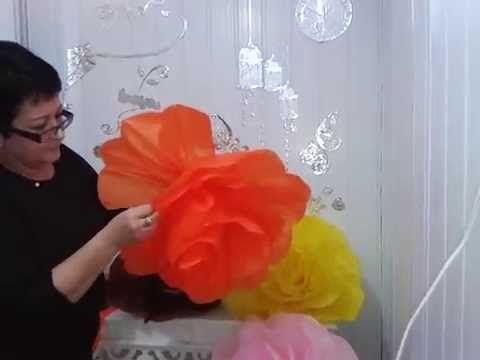 Aula 16 - Flores gigantes em papel de seda - YouTube