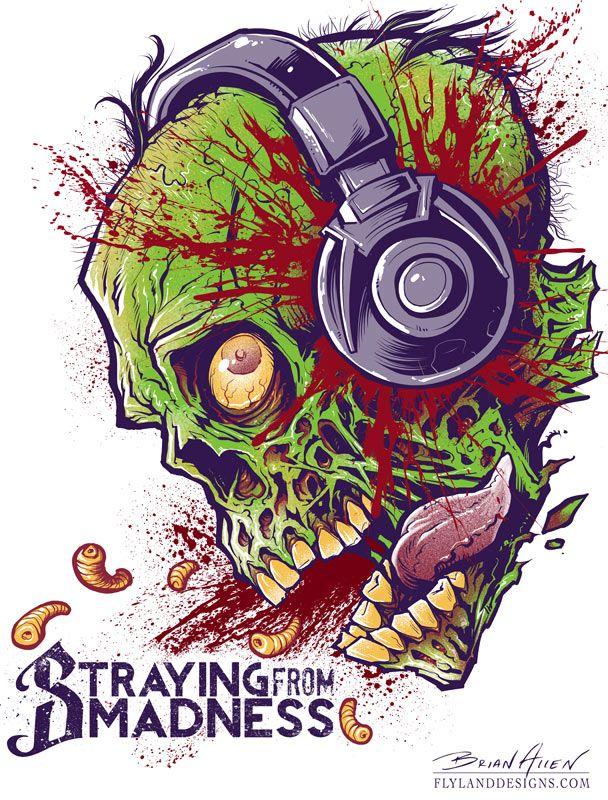 Moonshine Zombie Whiskey label illustration   Kicked ...