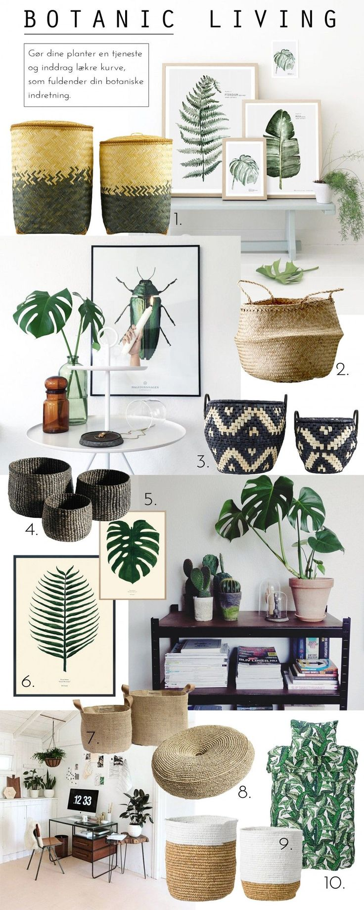 Botanic living: our favourites! | Moss Room moodboard