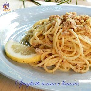 Spaghetti tonno e limone-ricetta estiva-golosofia