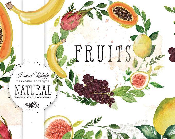 Fruit Logo Design, Food Blog Logo, Apple Logo, Natural Food Logo, Organic Food logo, Grocery Logo, Watermark