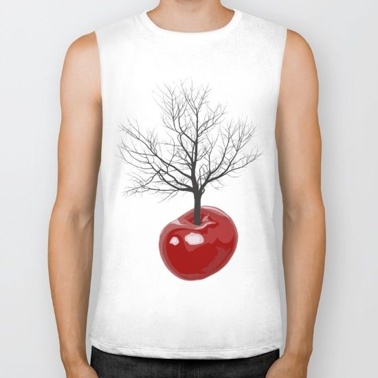 Cherry tree of cherries Biker Tank
