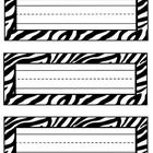 Use as labels for shelves, student desks, book baskets, etc. The possibilities are endless.  Each nameplate measures 8 x 3 inches. Print out as man...
