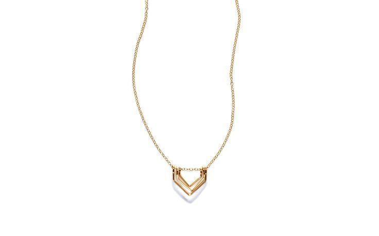 Triple V Necklace