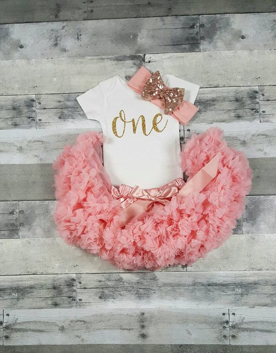 First Birthday Outfit/ Girl Birthday Outfit/ by SparkleBabyLove