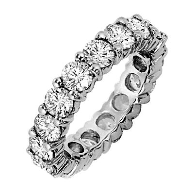 Infinity design eternity ring . available in Platinum & white gold