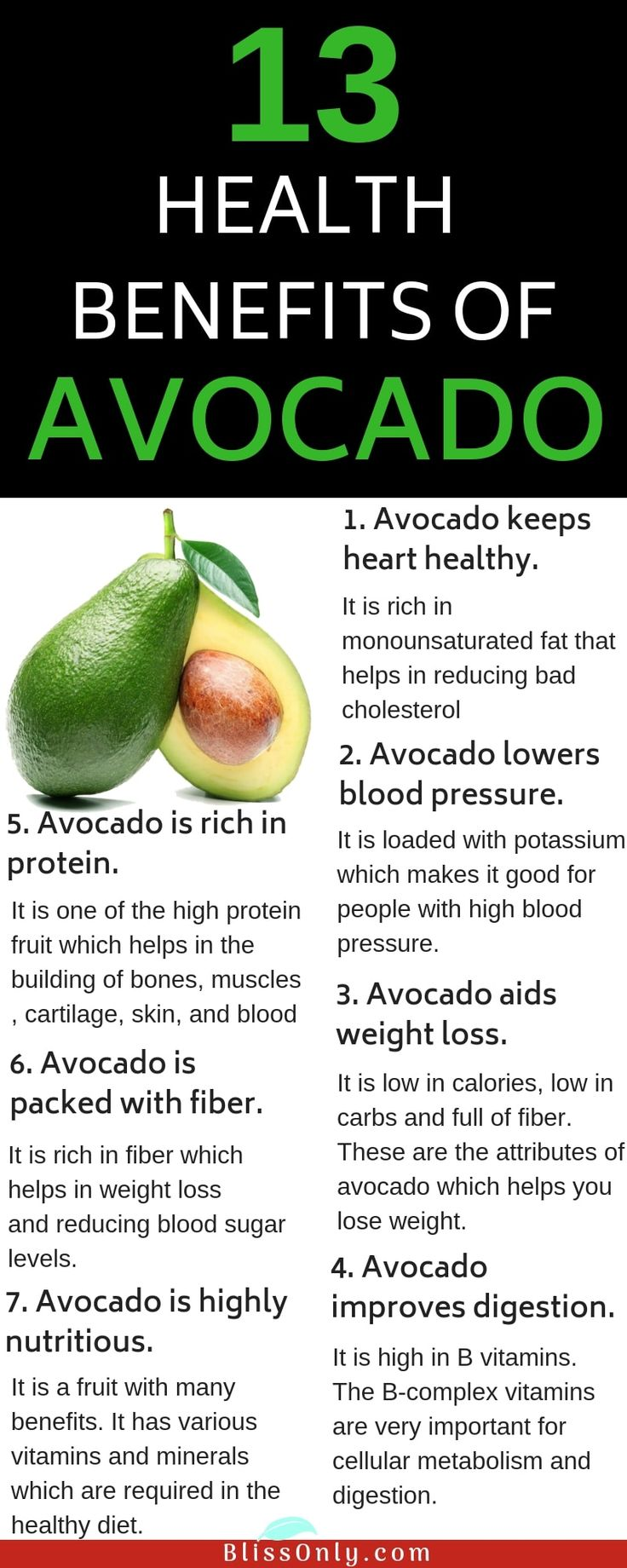 13 Health Benefits Of Avocado – Blissonly | Natural Beauty, Weightloss, Healthy Living Ideas