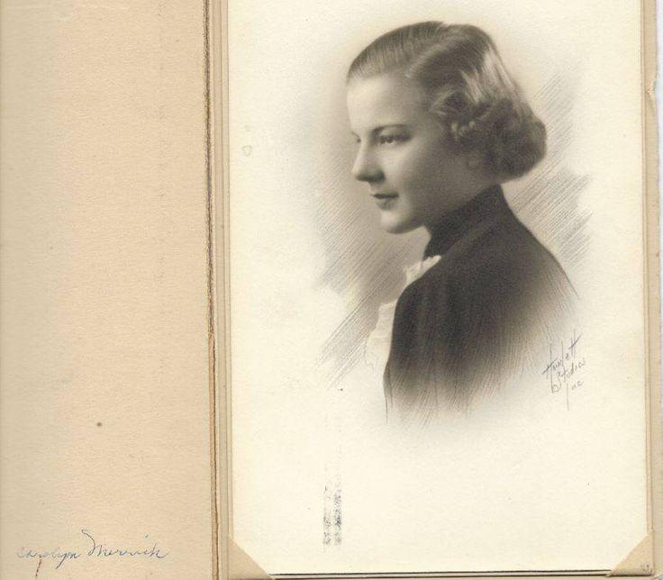 """Carolyn Merrick"".  The Photographer's name is ""Howlett Studios""  Per Member Erin Bradshaw: Google books lists a Martel-Howlett Studios, 404 American Ave., Long Beach, 1929   https://www.facebook.com/photo.php?fbid=1675482849168397&set=oa.1604205389612813&type=3&theater"