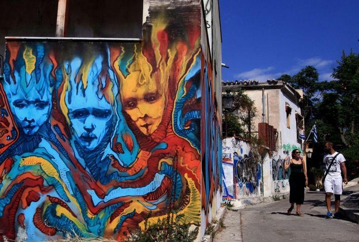 Sztuka uliczna w Atenach - http://www.tvn24.pl/zdjecia/zdjecie-dnia,31565.html