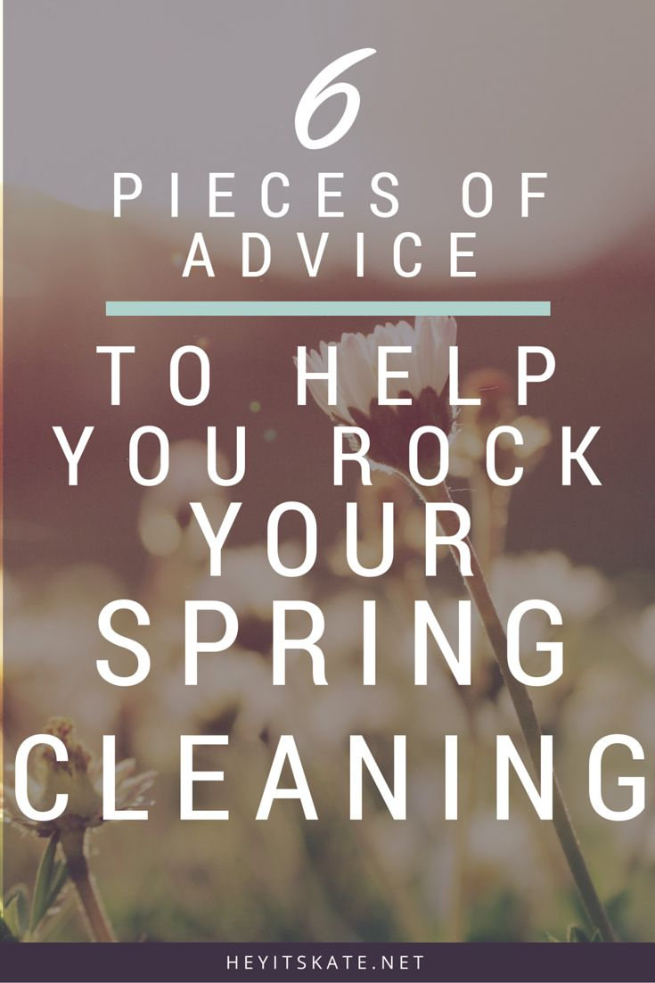 """Hey, It's Kate"""" 6 Pieces of Advice To Help You ROCK Your Spring Cleaning   Ready for spring cleaning and don't know where to start? Allow me to offer you some advice on how to rock your spring cleaning!"""