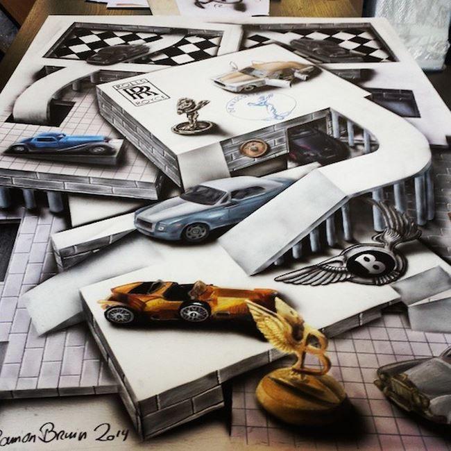 Ramon Bruin Illustrations - sscroll - Disegni Anamorfici