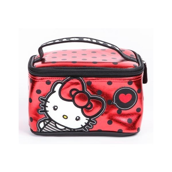 Hello Kitty Make-Up Case Big Red Bow ($38) ❤ liked on Polyvore
