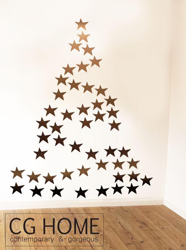Vinilos decorativos rbol de navidad hecho a mano por - Decorativos para navidad ...
