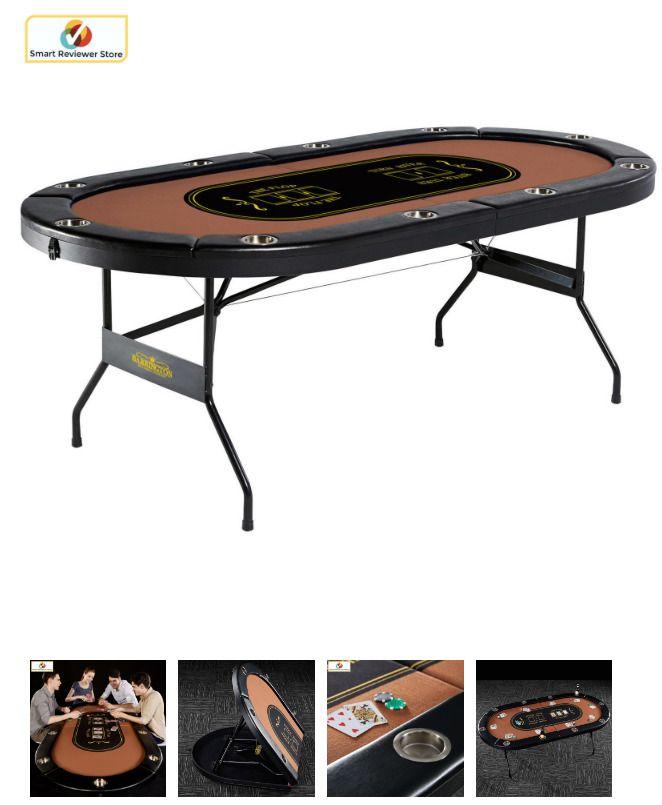 Barrington 10 Player Foldable Casino Poker Table Texas Holdem Card Game Table Card Game Table Poker Table Table Games