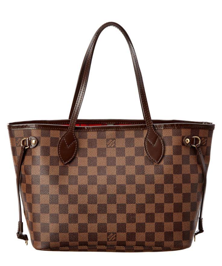 LOUIS VUITTON Louis Vuitton Damier Ebene Canvas Neverfull Pm'. #louisvuitton #bags #shoulder bags #lining #canvas #