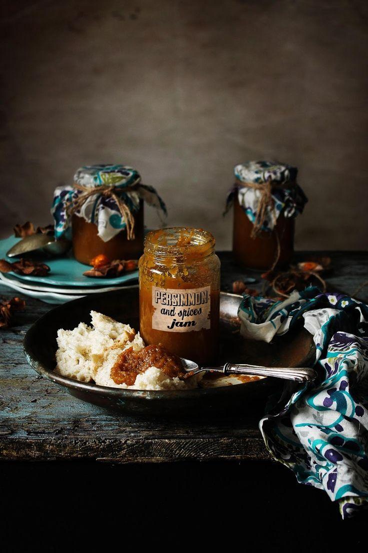 Doce de dióspiro e especiarias # Persimmon and spices jam - PRATOS E TRAVESSAS