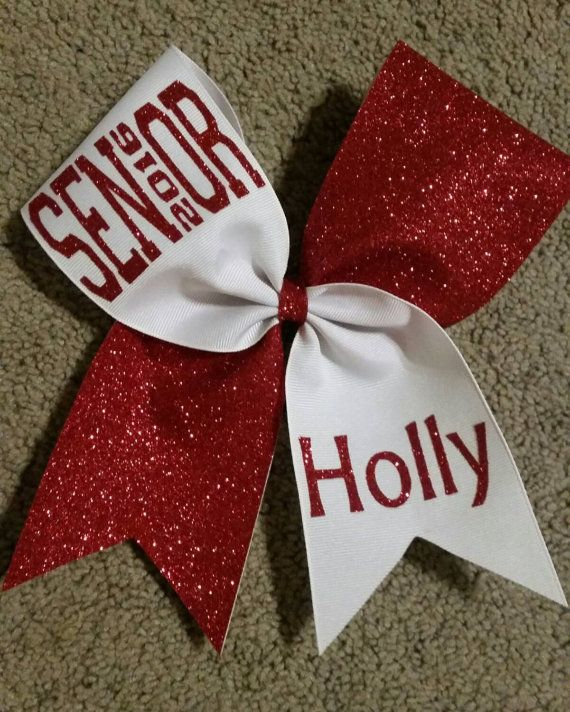 Senior 2016 cheer bow glitter choice of by CurlyNoodleCreations