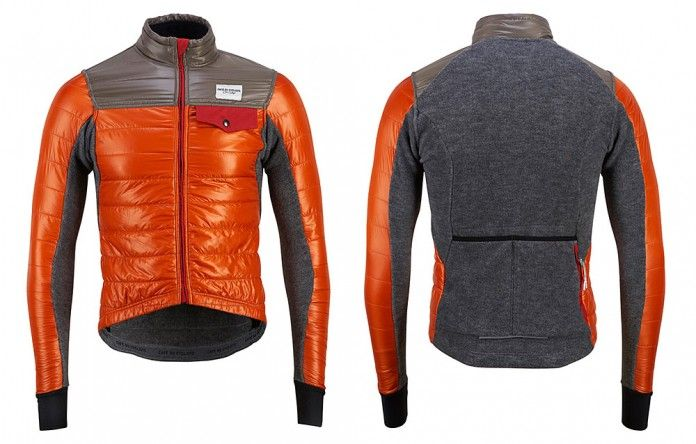 Albertine is a synthetic down cycling jacket that uses Primaloft Active to provide highly effective insulation coupled with extreme breathability. Styled to reflect the cols we ride, the jacket's adaptability on the bike is further increased by a back section constructed from a merino polar fleece fabric.