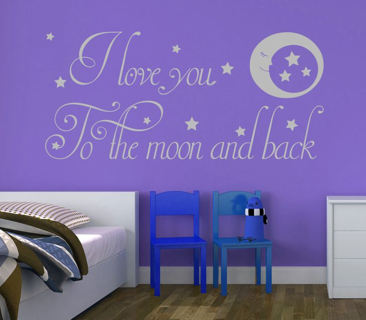I Love You To The Moon And Back Decal With Stars An Interchangeable We All Our Wall Stickers Decals Are Available In A Great Range Of Sizes