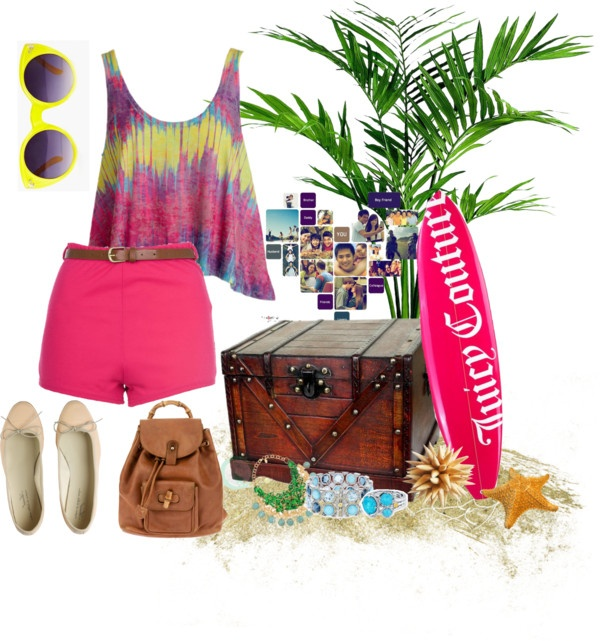 """never thought twice about the beach"" by pradisa on Polyvore"
