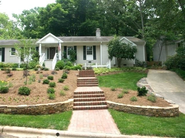 Landscaping Front Yard Slope How To Create A Low Maintenance Landscape Front Yard Sloped Front Yard L Sloped Backyard Landscaping Sloped Backyard Sloped Garden