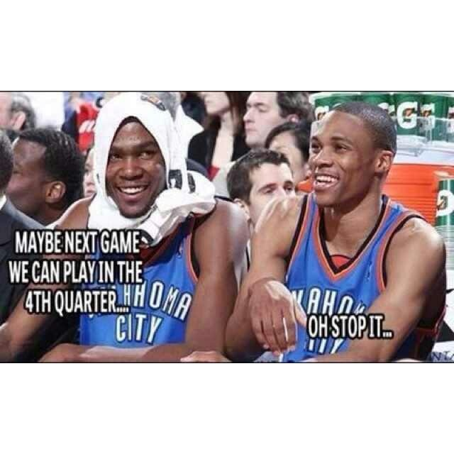 Kevin Durant #35 #KD & Russell Westbrook #0 OKC Thunder #Thunderup
