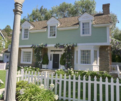The Leave it to Beaver house may look eerily familiar. Located on the Universal Studios backlot, it's been featured in many television programs and movies. These days, it's one of the houses on Wisteria Lane in the popular television show Desperate Housewives.
