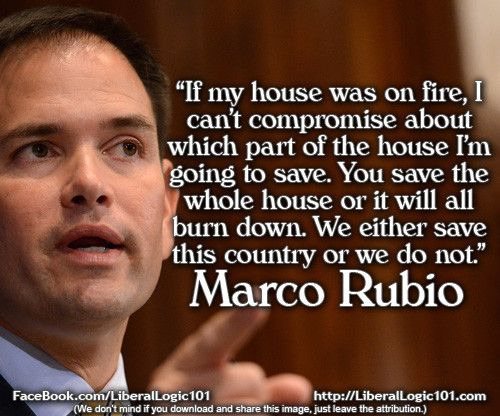 Marco Rubio apparently doesn't know that you can rebuild part of a house. #FlawedAnalogies
