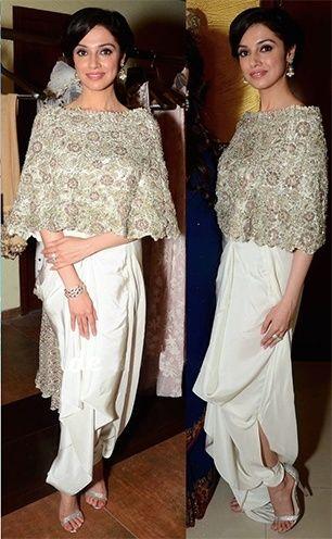 Divya Khosla Kumar in Anamika Khanna outfit
