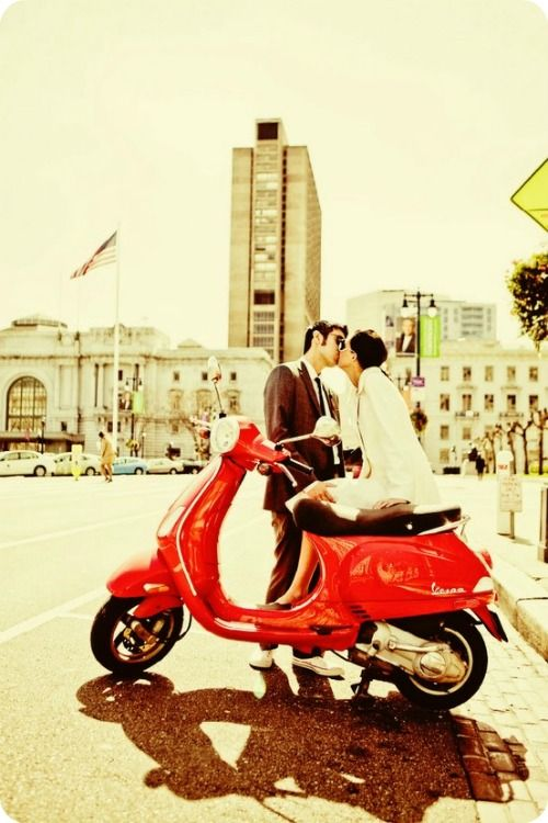 I think Nate and I need to create our own version of this photo.  We already have the Vespa!
