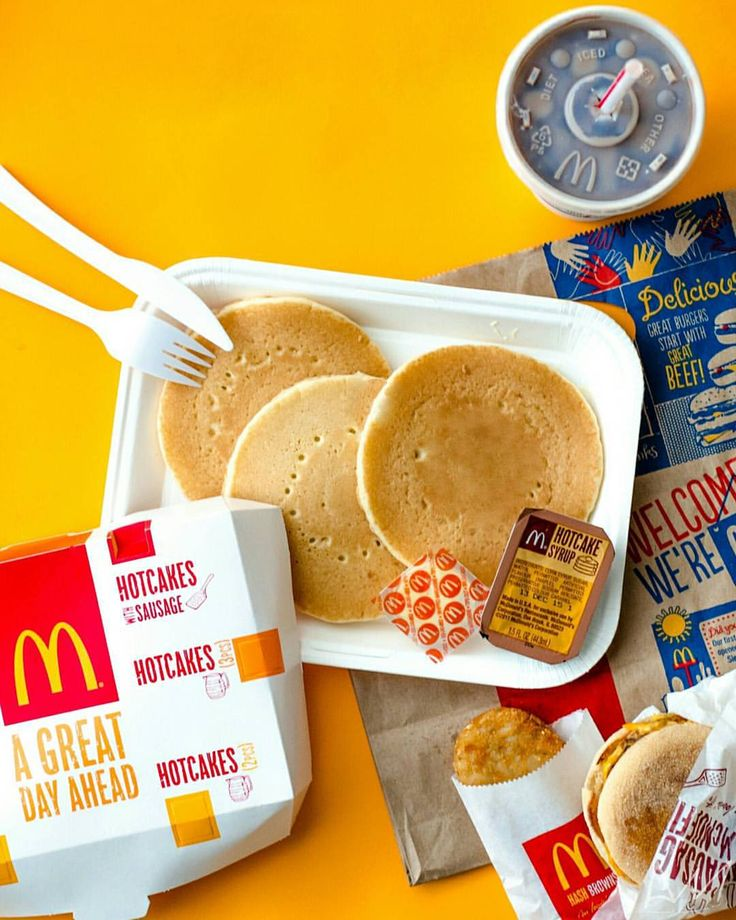 """Last night I told myself that if I get up between 8:30 - 9:30 I'd reward myself with a """"Big Breakfast"""". Guess who woke up earlyyy~ They don't serve """"Big Breakfast"""" with rice though so I opted for pancakes… a Sausage McMuffin… a hashbrown… and an iced milo instead. Worth every calorie!!~  @cmargaritaa Thanks for the wake up """"call""""!!~  You're such a nice friend.  #McDonalds #McDo #breakfast #foodphotography #cupofchoco"""