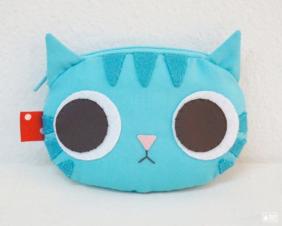 Blue Mint coin purse by mochikaka on Etsy, $19.00