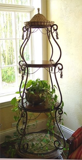 3 Tier Plant Stand Wrought Iron Pinterest