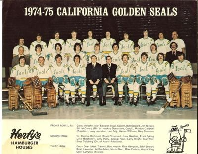 Remember the California Golden Seals, NHL hockey team??