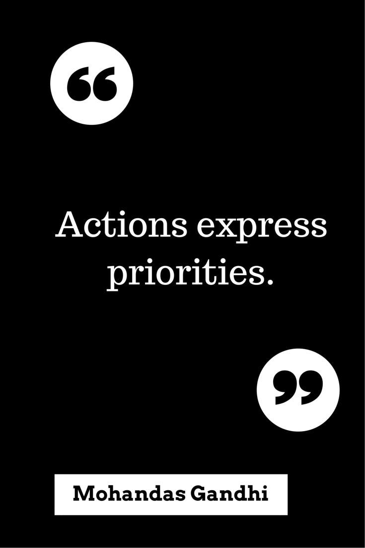 YOU should be a priority to the ones who profess to to love you --- no lame excuses.