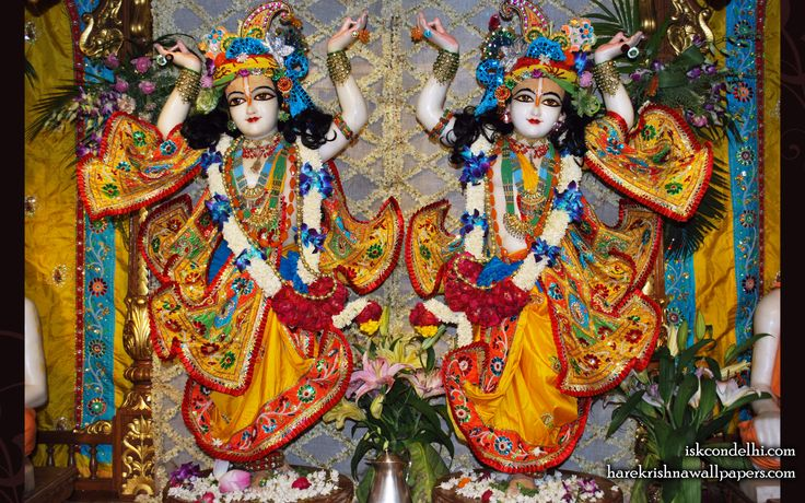 To view Gaura Nitai  Wallpaper of ISKCON Dellhi in difference sizes visit - http://harekrishnawallpapers.com/sri-sri-gaura-nitai-iskcon-delhi-wallpaper-005/