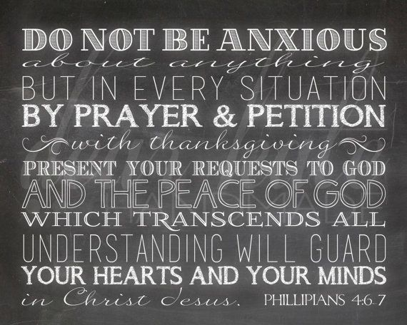 Do Not Be Anxious About Anything Phillipians by dearkatehandmade, $5.00