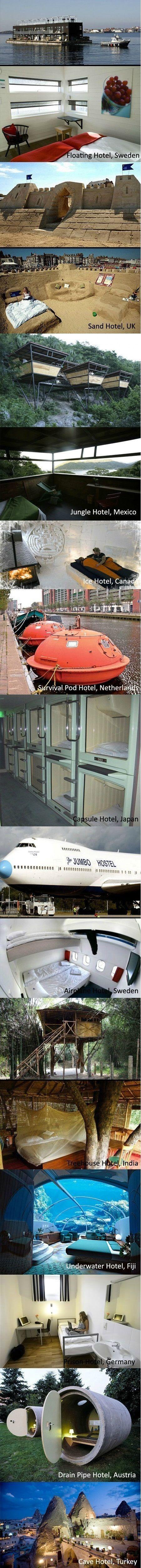 Strange and unique hotels around the world