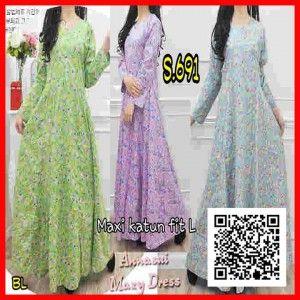 baju muslim maxi dress s691 terbaru remaja s691
